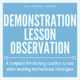 Demonstration Lesson Observation Sheet