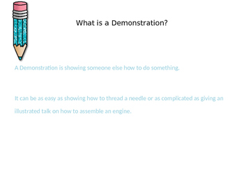 Demonstration Speech Power Point