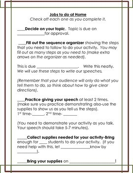 how to write a demonstration speech