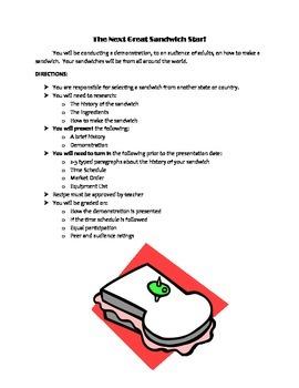 Demonstration Speech - The Next Great Sandwich Star