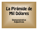 Spanish Demonstrative Adjective $1000 Pyramid Game