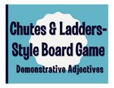 Spanish Demonstrative Adjective Chutes and Ladders-Style Game