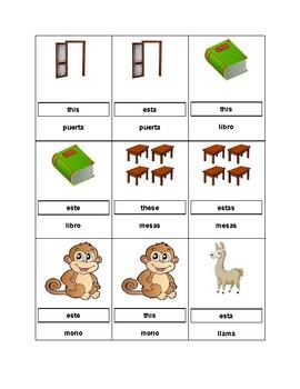 Demonstrative Adjective Games