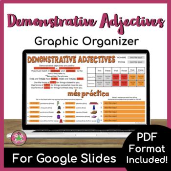Demonstrative Adjective Graphic Organizer