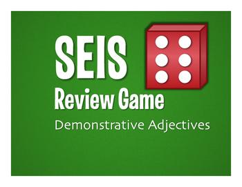 Spanish Demonstrative Adjective Seis Game