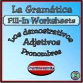 Demonstrative Adjective and Pronoun Fill-In Reference Charts