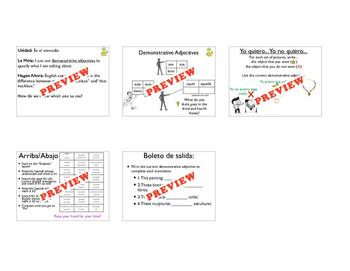 Demonstrative Adjectives: 2 days, tons of practice!