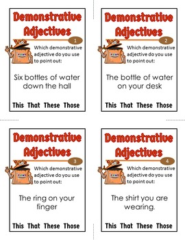 Demonstrative Adjectives Activity
