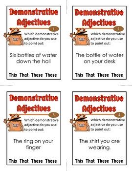 Demonstrative Adjectives Activity