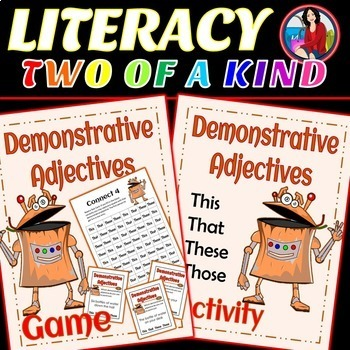 Demonstrative Adjective Activity and Game Bundle
