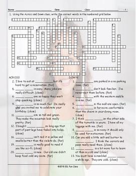 Demonstrative Adjectives Crossword Puzzle