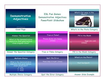 Demonstrative Adjectives PowerPoint Slideshow