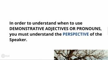 Demonstrative Adjectives and Pronouns PREZI!