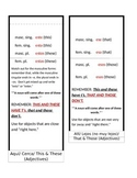 Demonstrative Adjectives and Pronouns Foldable
