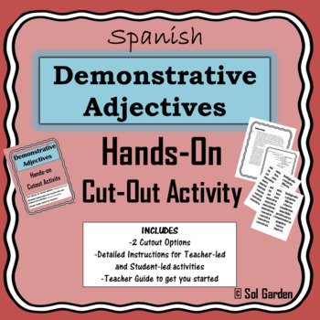 Demonstrative Adjectives in Spanish - Hands-on Cutout Activity