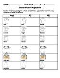Demonstrative Adjectives practice