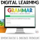 Demonstrative Indefinite Pronouns Self-Grading Quiz | Google Apps
