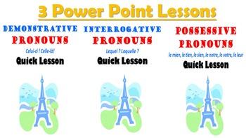 Demonstrative, Interrogative, Possessive Pronouns Unit Pack: PPT, Worksheets