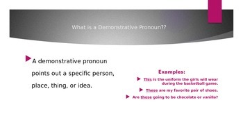 Demonstrative Pronouns (Grammar Scramble!!)