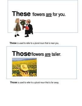 ESL/ELD Demonstrative Pronouns Poster