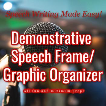 Demonstrative Speech Frame / Graphic Organizer