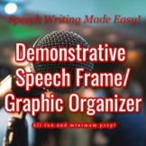 Demonstrative Speech Frame / Graphic Organizer