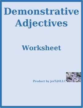 Demonstrative adjectives in English worksheet