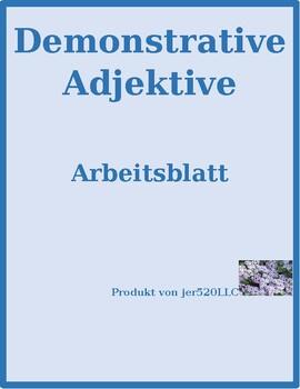 Demonstrative adjectives in German worksheet 2