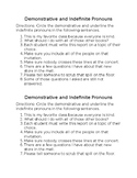 Demonstrative and Indefinite Pronouns