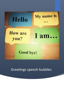 "Demonstrative cards ""Greeting speech bubbles"""