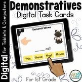 Demonstratives Digital Task Cards for Google Classroom and