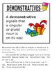 Demonstrative Adjectives – 1st Grade Grammar Practice & Lesson + ELA Poster