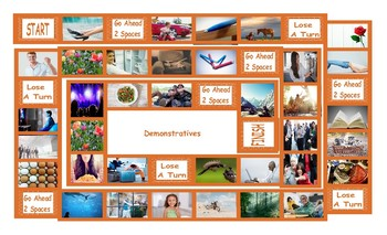 Demonstratives Legal Size Photo Board Game