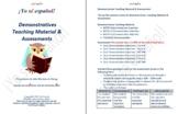Demonstratives  Teaching Material & Assessment