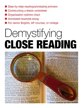 Demystifying Close Reading
