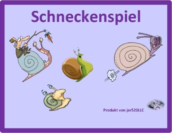 Den Tisch decken (Set the table in German) Schnecke Snail game