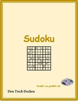 Den Tisch decken (Set the table in German) Sudoku