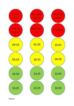 Den digitale klokka - trafikklys