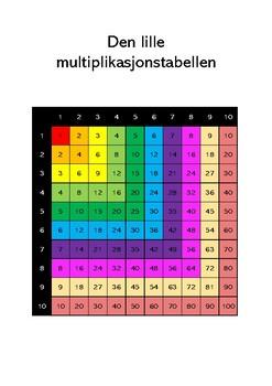 Den lille multiplikasjonstabellen