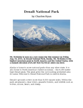 Denali National Park - An Illustrated History for Kids