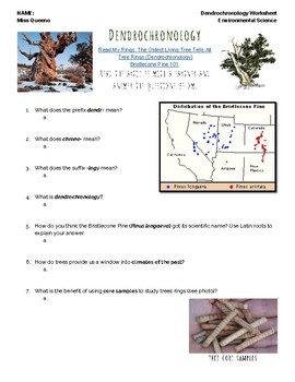 Dendrochronology Tree Age Data Questions