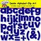 Denim Alphabet Clip Art