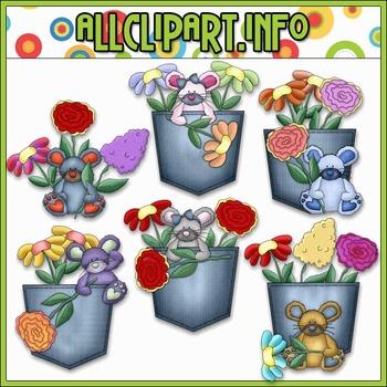 BUNDLED SET - Denim & Blooms Clip Art & Digital Stamp Bund