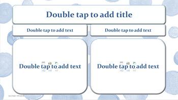 Denim Blue Polka Dots on White PowerPoint Template Fun! Professional!  Unique!