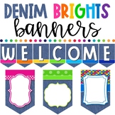 Denim Brights Classroom Theme - Banners