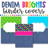 Denim Brights Classroom Theme - Binder Covers