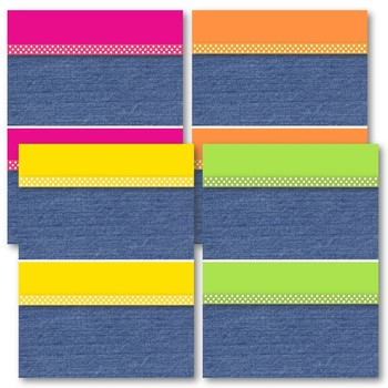 Denim Brights Classroom Theme - Table and/or Group Numbers