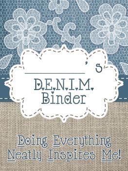 Denim, Burlap, and Lace Binder Cover