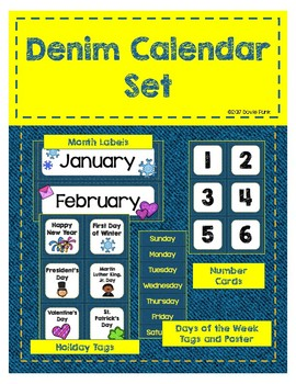 #roomdecor Denim Calendar Set