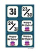 Classroom Decor Denim Calendar Set